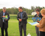 Dr. Milan Zver, Romana Tomc in dr. Vlasta Krmelj z Dušanom Strnadom