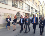 Sprehod kandidatov SDS po Ljubljani
