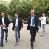 Pogovorni večer v Ajdovščini z dr. Milanom Zverom, Damijanom Terpinom in Andreo Massijem.