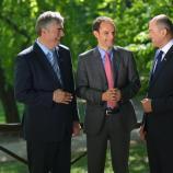 Dr. Milan Zver, mag. Anže Logar in Janez Janša