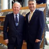 Dr. Zver z nekdanjim predsednikom Evropske komisije Jacques Santerjem