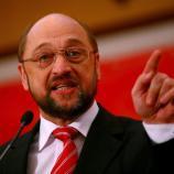 Predsednik Evropskega parlamenta Martin Schulz med obiskom v Sloveniji
